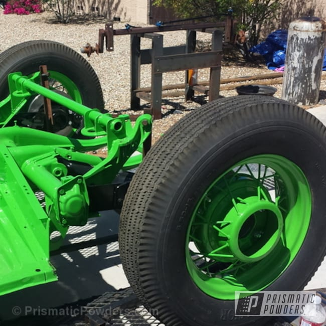 Powder Coating: Powder Coated 67' Chopped Bug,Zombie Green PSB-7001,Off-Road