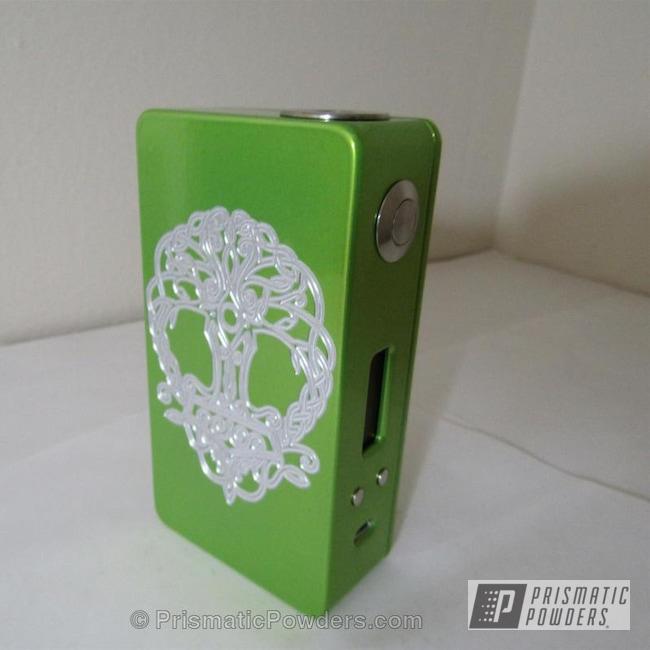 Powder Coating: Single Powder Application,Tree of Life Box Mod,Glowing Yellow PPB-4759,Miscellaneous