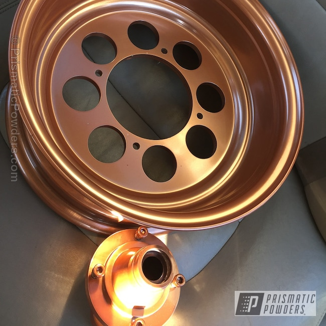 Powder Coating: Wheels,Automotive,Penny Gold PPB-5129,Powder Coated Wheel