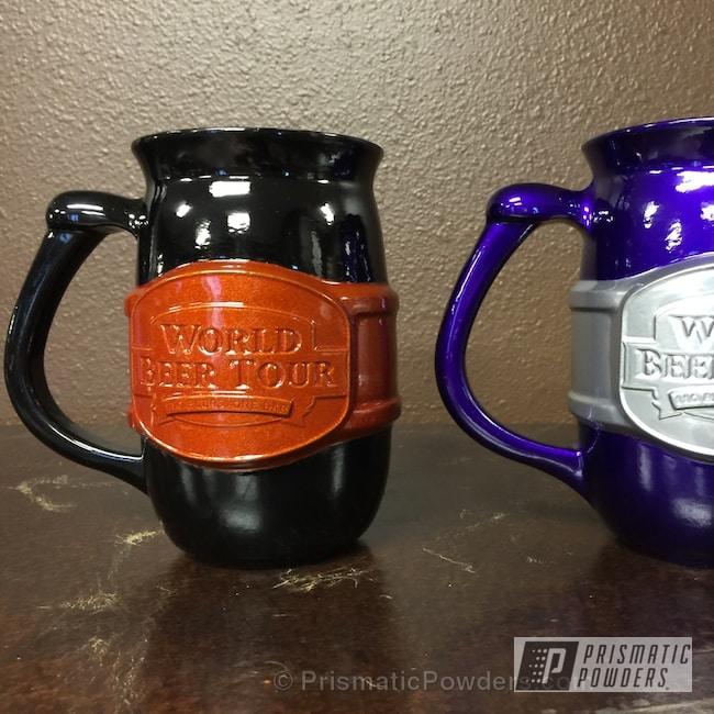 Powder Coating: Illusion Purple PSB-4629,GLOSS BLACK USS-2603,Powder Coated Chicago Beer Mugs,Illusion Rootbeer PMB-6924,Miscellaneous