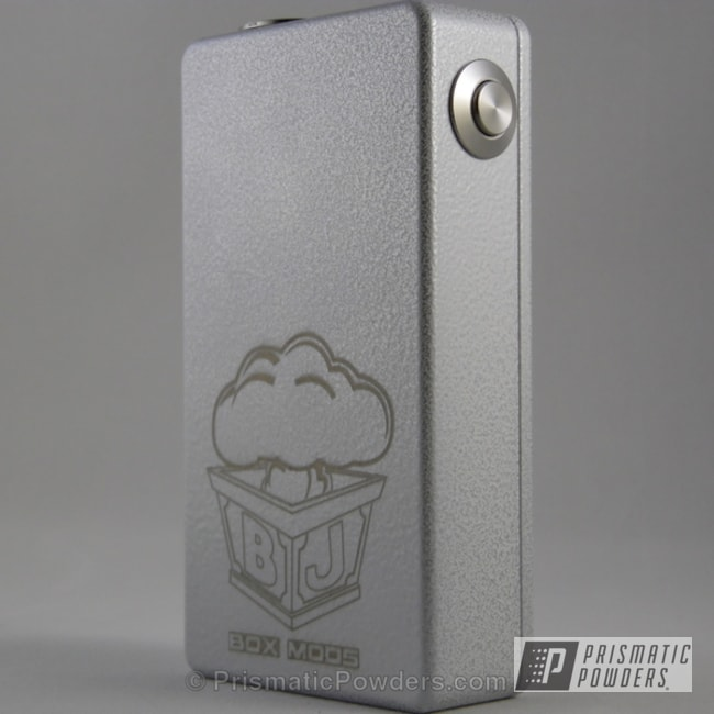 Box Mod Done In A White/silver Vein