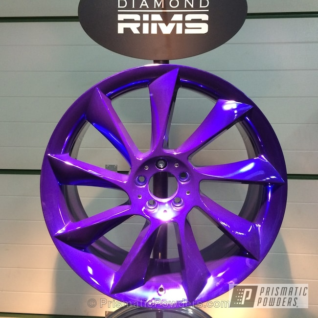 Powder Coating: Wheels,Powder Coated Wheel,Bentley Blue PPB-4711