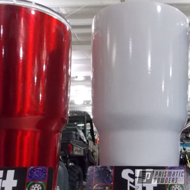 Powder Coating: Tumbler,LOLLYPOP RED UPS-1506,Clean White PSS-4950,Powder Coated Yeti Tumblers,Intense Blue PPB-4474,Miscellaneous