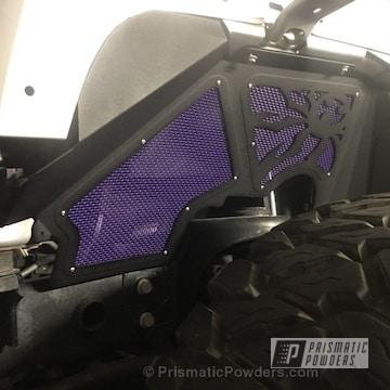 Sinbad Purple And Black Satin Texture