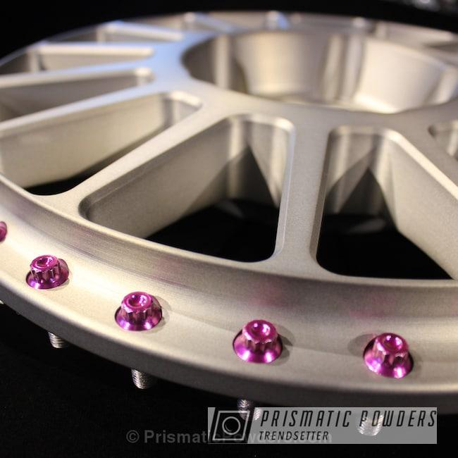 Powder Coating: Automotive,Matte Tinted Clear PPB-6680,ANODIZED GRAPE UPB-1510,Brushed Aluminum Barramundi Design Wheels