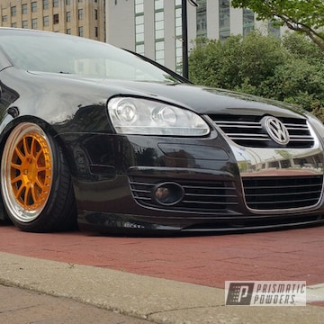 Vw Wheels Done In Transparent Gold