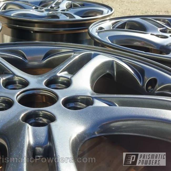 Powder Coating: Wheels,Automotive,Powder Coated Wheels,Misty Lava PMB-4217