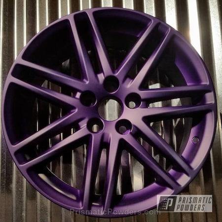 Powder Coating: Wheels,Acura Silver PMB-6558,Powder Coated Wheel,Casper Clear PPS-4005,Candy Purple PPS-4442