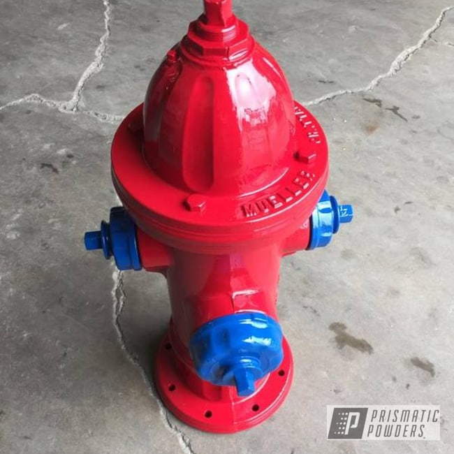 Powder Coating: Powder Coated Fire Hydrant,RAL 3020 RAL-3020,Miscellaneous