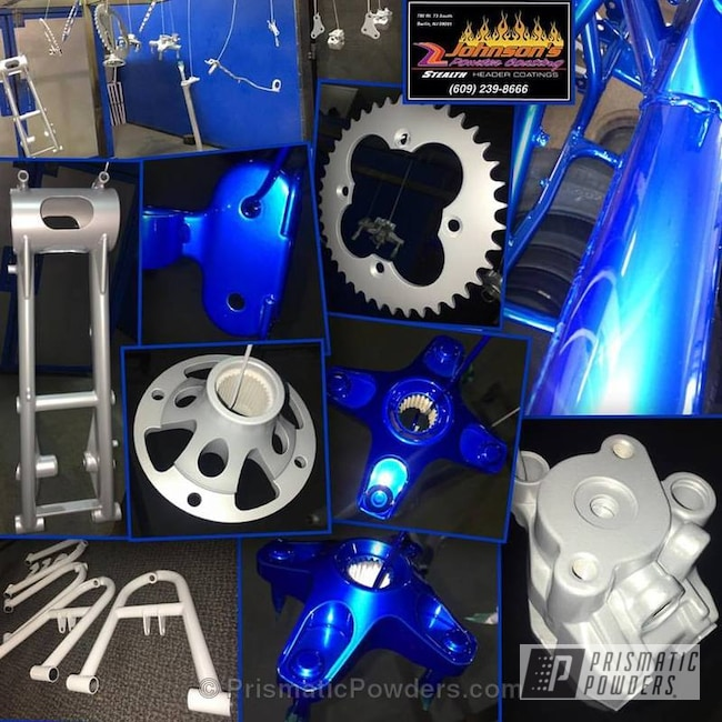 Powder Coating: Quadzilla,BMW Silver PMB-6525,SUPER CHROME USS-4482,ATV,chrome,LOLLYPOP BLUE UPS-2502,Three Powder Application,Custom Quad Parts
