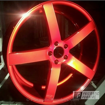 Lollypop Red Over Polished Aluminum With Clear Vision Top Coat