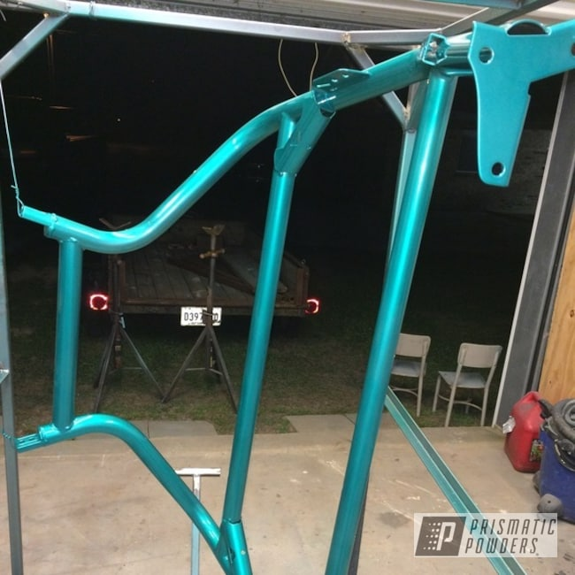 Turquoise Clear Over Super Chrome With Clear Vision Top Coat