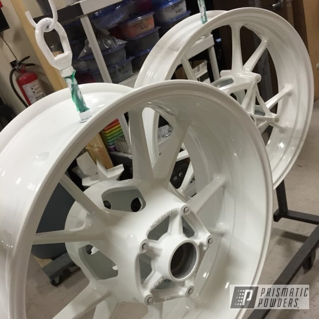 Powder Coating: Wheels,Motorcycles,Sleek White PSS-5468
