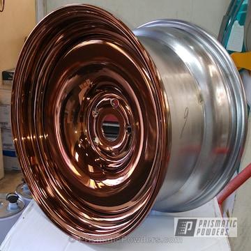 Transparent Copper Powder Over Chrome Plated Wheels