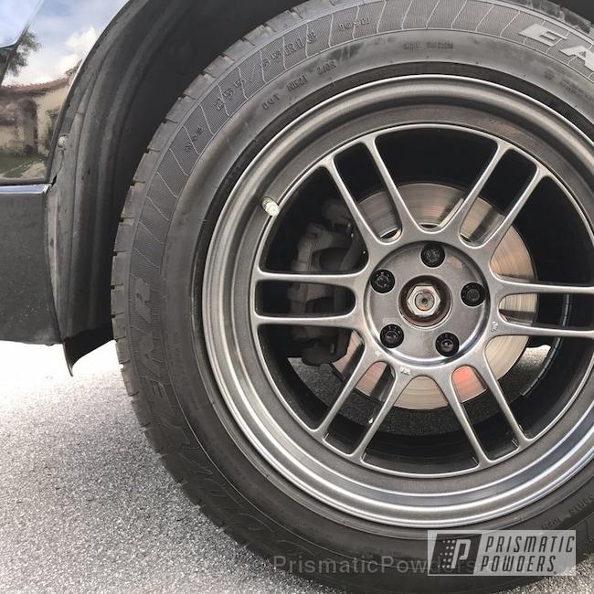 Powder Coating: Wheels,Automotive,Clear Vision PPS-2974,Custom Wheel,Clear Top Coat,Crystal Grey PMB-5913