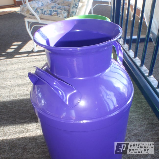 Powder Coating: Powder Coated Cream Can,Sinbad Purple PSS-1676,Miscellaneous