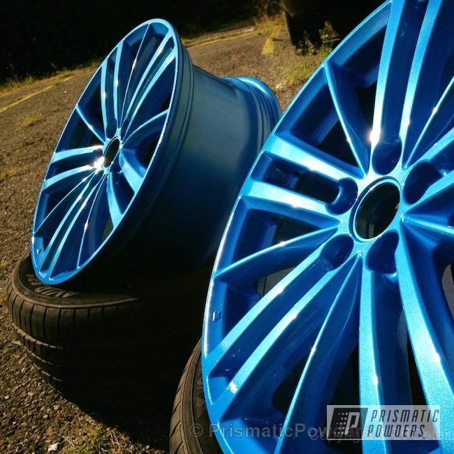 Powder Coating: Wheels,Clear Vision PPS-2974,SPARKS BLUE UMB-1809,Powder Coated Stock Impreza Wheels