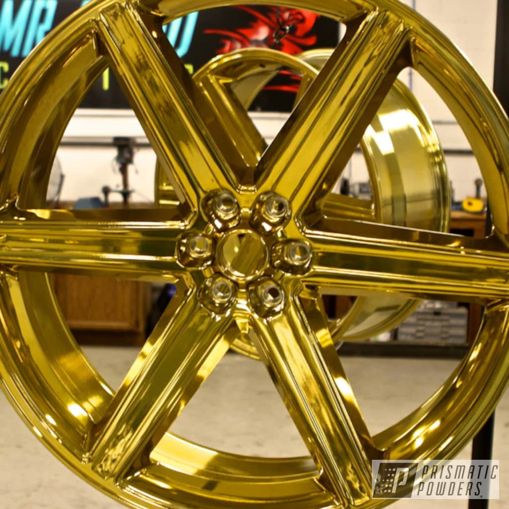 Transparent Gold Over Chrome Plating With Clear Vision Top