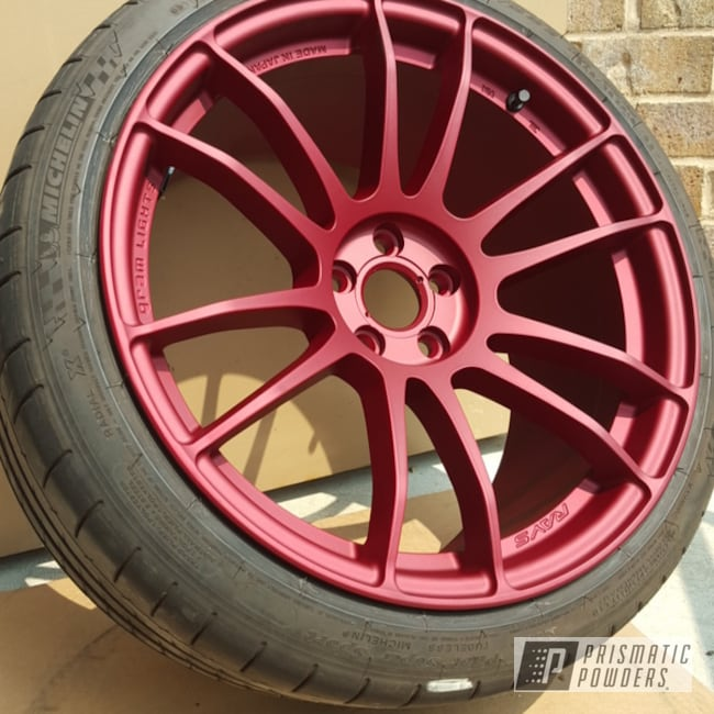 Powder Coating: Wheels,Illusion Cherry PMB-6905,Casper Clear PPS-4005