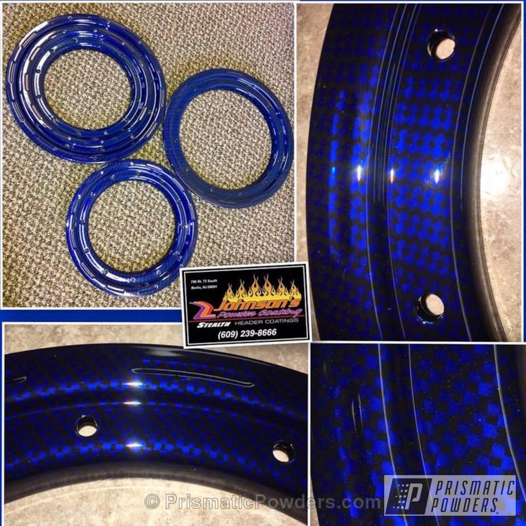 Powder Coating Single Lication Quad Beadlocks Atv Empire Blue Ppb