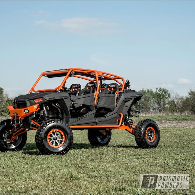 Powder Coating: Wheels,Clear Vision PPS-2974,Bumpers,Off-Road,Powder Coated Lift Kits,Diff Covers,Steps,Rockers,Caveman Black PTS-1539,Illusion Tangerine Twist PMS-6964,Roll Cages