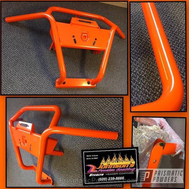 Powder Coating: Orange Soda PMB-1585,Single Powder Application,ATV,Polaris ATV