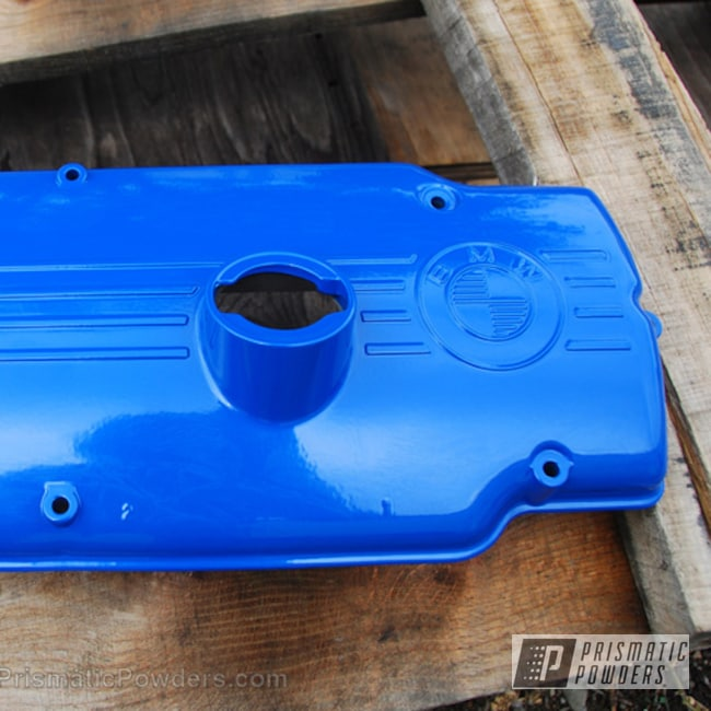 Custom Bmw Valve Cover In A Brazilian Blue Finish