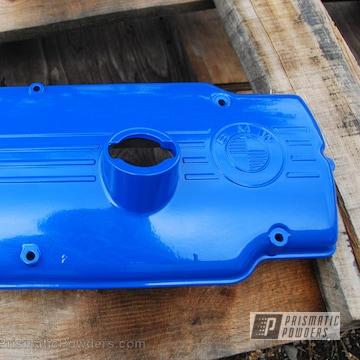 Custom Bmw Valve Cover In A Brazilian Blue Finish