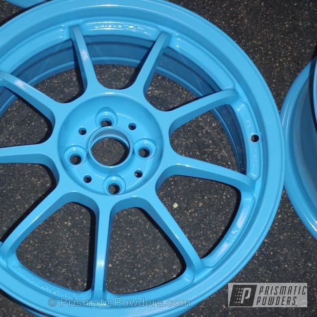 Powder Coating: Wheels,Powder Coated Aluminum Rims,Powder Blue PSS-4009
