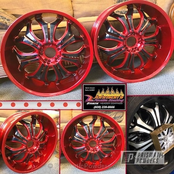 Soft Red Candy And Gloss Black