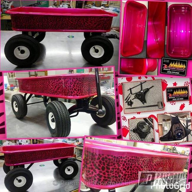 Powder Coating: Single Powder Application,Wagon Hydrographic over Powder,Corkey Pink PPS-5875,Miscellaneous