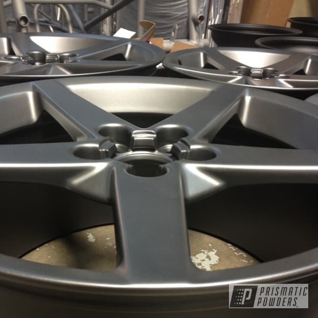 Powder Coating: Wheels,STEALTH CHARCOAL PMB-6547,C6 Vett Wheels