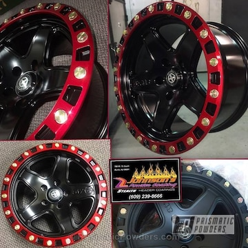 Satin Black And Illusion Copper With Soft Red Candy
