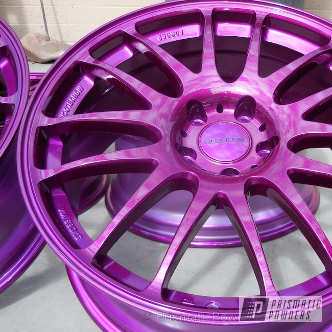 Powder Coating: Wheels,Illusion Violet PSS-4514,Powder Coated Prodrive wheels