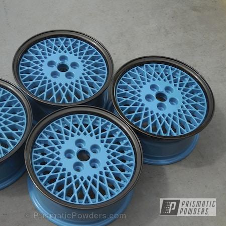 Powder Coating: Wheels,Silver Sparkle PPB-4727,TRIPLE BRONZE UMB-4548,Powder Coated Wheels,Captive Blue PSS-1718