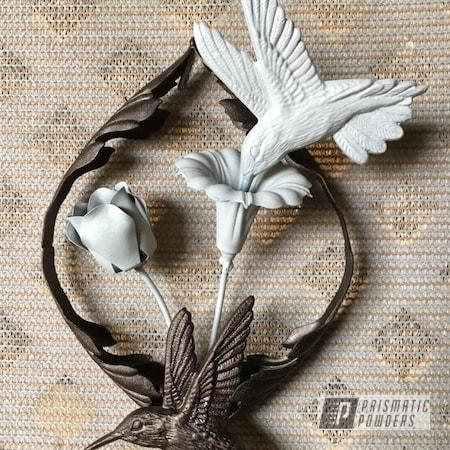 Powder Coating: Chantilly Lace PWB-1795,Small Wall Hanging,Custom Art,Art,Miscellaneous