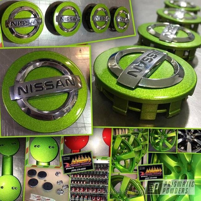 Powder Coating: Single Powder Application,Wheels,Nissan,Custom Wheels,Illusion Sour Apple PMB-6913