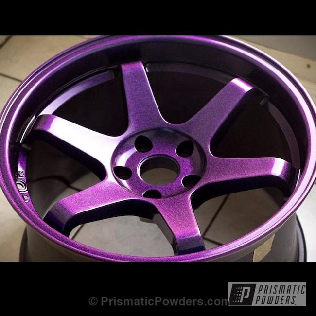 Powder Coating: Wheels,Chameleon Violet PPB-5731,Ink Black PSS-0106