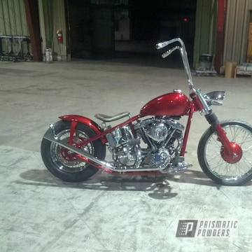Deep Red Candy Over Super Chrome