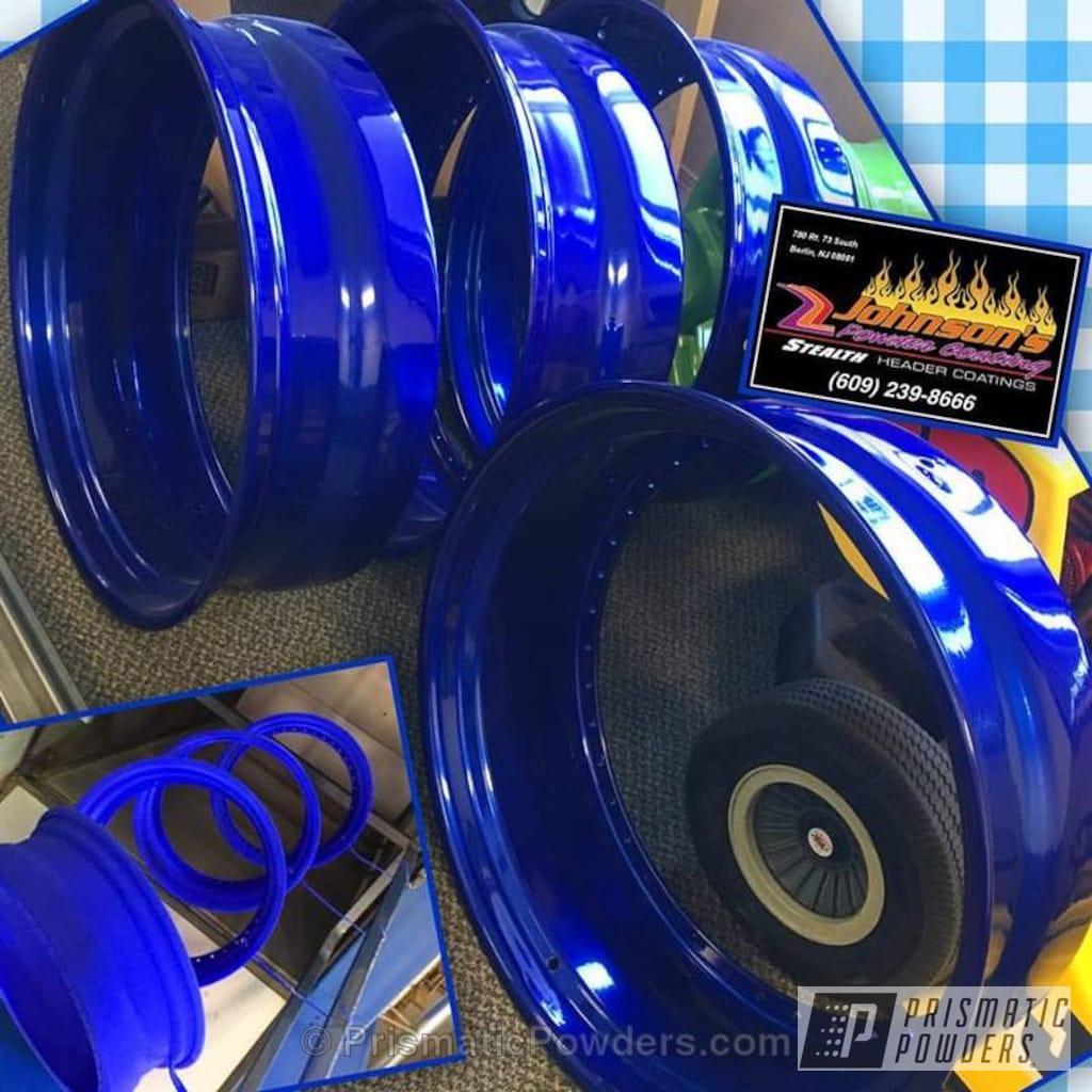 Powder Coating Wheels Galaxy Blue Ppb 4651 Custom