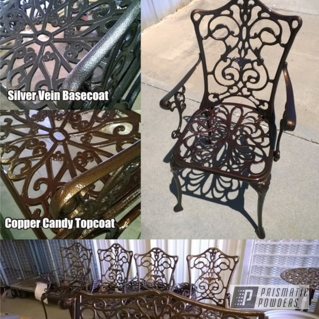 Powder Coating: Vintage Outdoor Patio Set,Silver Artery PVS-3014,Furniture