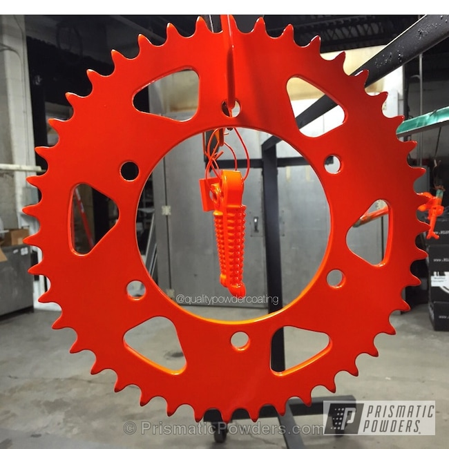 Powder Coating: Corkey Red PPS-3095,Motorcycles