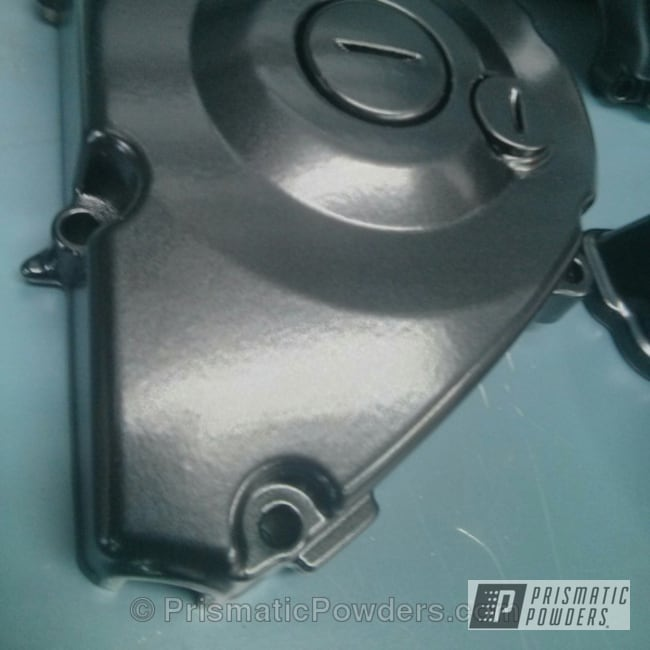 Powder Coating: Soft Clear PPS-1334,ATV Engine Cover,BLACK JACK USS-1522,ATV,Engine Components,Clear Top Coat