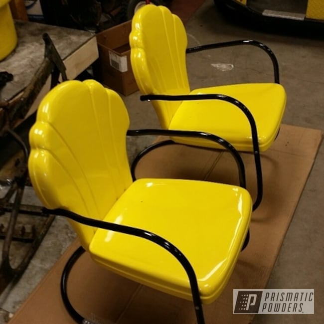 Powder Coating: 1960s Lawn Chairs,Ink Black PSS-0106,Furniture