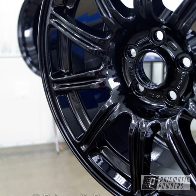 Powder Coating: Wheels,Clear Vision PPS-2974,Pearl Black Powder Coated Wheel,Pearl Black PMB-5347