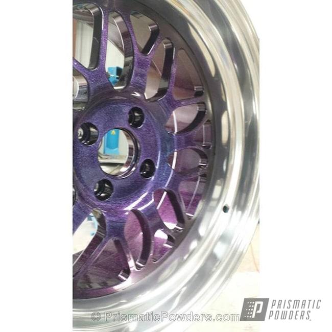 Powder Coating: Wheels,Clear Vision PPS-2974,Chameleon Violet PPB-5731,Ink Black PSS-0106