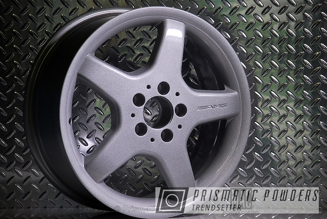 Powder Coating: Wheels,Automotive,Clear Vision PPS-2974,AMG,Cascade Silver PMB-4475,AMG Mercedes Wheels,Clear Top Coat