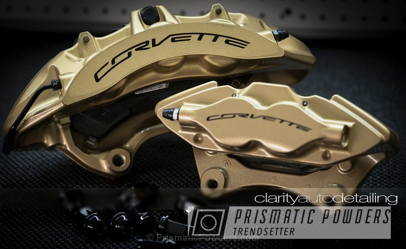 Brake Calipers Coated In Prismatic Gold