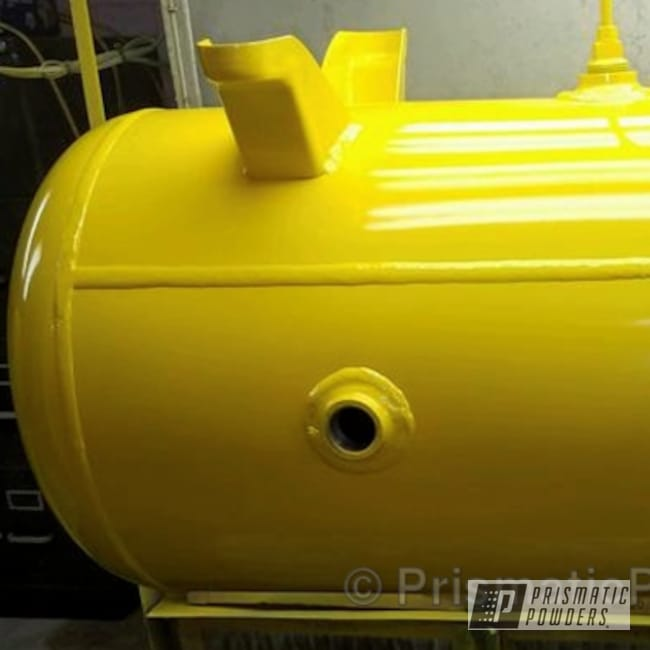 Powder Coating: Single Powder Application,Industrial Tanks,Hot Yellow PSS-1623,Miscellaneous