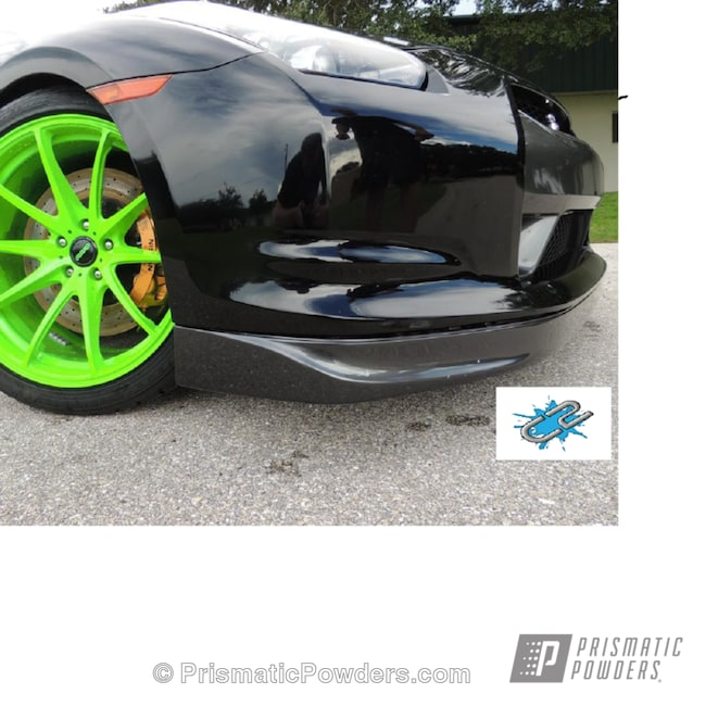 Powder Coating: Wheels,Powder Coated GTR Rays Rims and Center Caps,Ink Black PSS-0106,Racer Green PSS-4531